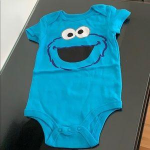 Sesame Street Baby Boy's Cookie Monster Bodysuit.